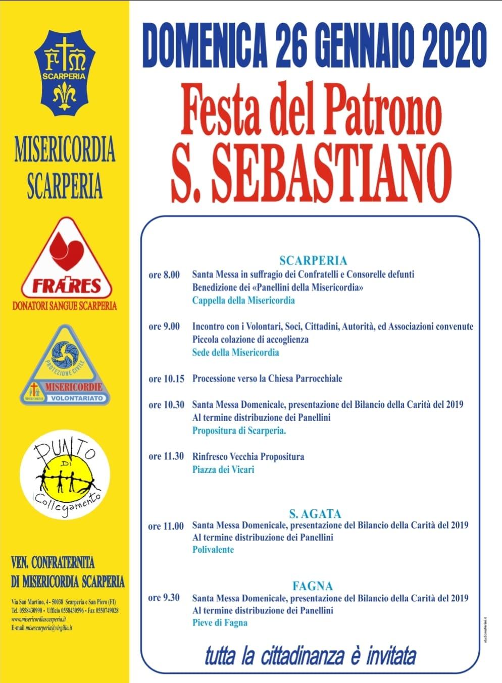 Programma Festa del Patrono San Sebastiano
